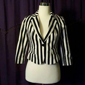Black white stripe beetlejuice blazer SZ Small